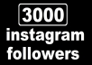 give 3000+ Instagram permanent Followers