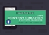 curate 1 curated post to your facebook page for 5 days