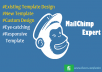 Design Awesome Responsive Editable Mailchimp Email Template