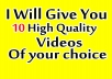 provide you high quality video for your project or business