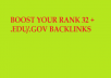 I will make manually Higher Authority 32+.Edu and.Gov to Boost your Ranking.