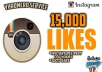 I will give you 15,000 Instagram Likes Fast & Easy! Make your Instagram pictures look very popular with tons of likes! - No Password Needed - No Account Access - 100% Safe & Reliable - Likes Can Be Split to Multiple Pictures - Likes come in fast! Check out other of my Social Media Services!