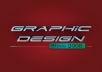 Over 10 plus years as a graphic designer, I will do