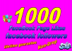 Give You Real 1000 Facebook page likes or 1000 Facebook followers lifetime guarantee