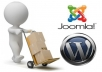 move your WordPress or Joomla website to new hosting provider