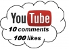 add 100 Real YouTube Likes + 10 comments  to your Video