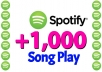provide you +1,000 Spotify Song Plays