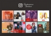 design awesome Instagram banner