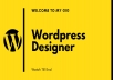 Design WordPress Website in 24 hr