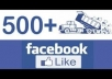 provide 500 likes for your facebook page