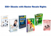 With this pack, you get 500 Ebooks with resale rights. It's not just 500 articles, it's 500 complete Ebooks.
