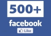 I will give you 500 Facebook Likes for only $5