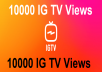 Deliver 10000 instagram tv views