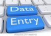 I am eligible for doing any kind of data entry work within 1 day.I will cost only 5 USD.