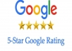 Give 5 Google Five Star Reviews or Rating from Legit accounts