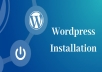 Install Wordpress And One Theme Active With Plugins