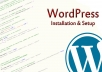 setup wordpress, themes and plugins