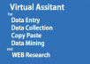 be your virtual assistant for data entry, copy paste, web research,MS Excel, MS Word