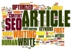 do a quality SEO article writing