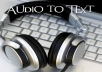 do a 20minutes audio/video transcription