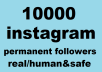 We offer following in this 10,000 real active Instagram follower package.Only Quality Real Followers