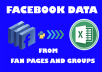 Scrape Any Data From Facebook Page or Group