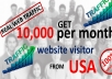 lead over 2000 targeted USA web traffic to website daily