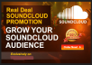 do organic soundcloud plays likes repost comments promotion for tracks to US audience