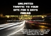 send UNLIMITED Traffic to your website for 10 days