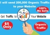 Send 20,000 Organic Traffic To Your Website