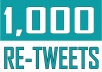 Give 1,000 Twitter Retweets (USA)