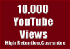 Give 10000 Permanent Youtube Views Life time guarantee