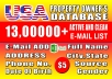 Give You Over 13,00,000 USA Property Owners Email List With Other Data
