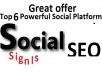 Great Top 7 Powerful Platform 1100 PR9 SEO Social Signals Share Bookmarks Important Google Ranking Factors
