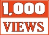 Add 1,000 YOUTUBE FAST VIEWS