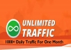 give 1,000+ Daily Traffic to Your Website for 30 days