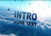 create this awesome Dancing Clouds video with your text