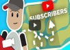 give you 500+ best quality YouTube Subscribers