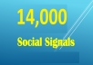 give 14,000 pinterest Social Signals from Social Media Website