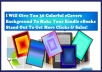 give You 30 Sharp Kindle Colorful eCover Background Templates For You To Quickly Create Hundreds Of Flat Kindle Covers