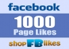 ★★★100% CUSTOMER SATISFACTION★★★  I will provide 1,000 real and active Facebook likes.  Are you searching real Facebook likes or OR photo POST Likes these Facebook Likes are totally PERMANENT and stable?     My services  Non-drop 1,000 facebook  likes Active and real human likes Permanent likes guaranteed 100% safe for your account Increase your page ranking No fake or bots