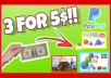 Do 3 for 5 Youtube Any Style Thumbnail Or Profile Logo