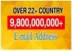 Over 980+ Millions Database Email List From Over 22+ Country.  