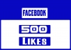 we provide 500 Facebook likes to increase your Fan Page rank.And also we deliver it within 48 hours.If you want more , you can contact us or check the Extra services.