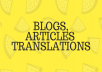 write high quality blog post or articles