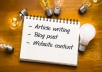 Be Your Professional Creative Article And Blog Post Writer