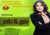 manually create 16 backlinks from edu and gov with index PR5 to PR9 + Ping and Report