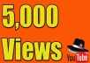 I will add 5000 youtube views I will promote and get your video safe youtube views, likes, Comments within 48hrs.  Here You Will Get 100% Organic And Non-Drop result    My service -     100% real and unique views 5,000  views High retention Super fast delivery Get exposed, go viral on youtube Worldwide Split available