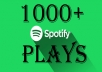 I will do organic promotion of your spotify track to 1000 active audience (1000 Plays)