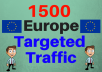 give 1500 Europe TARGETED Human traffic to your web or blog site
